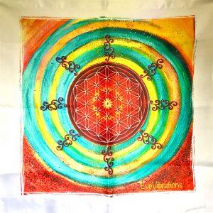 Tenture murale de géométrie sacrée Fleur de vie