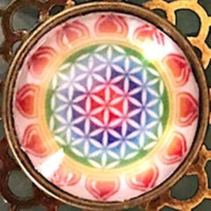 médaillon énergétique géométrie sacrée