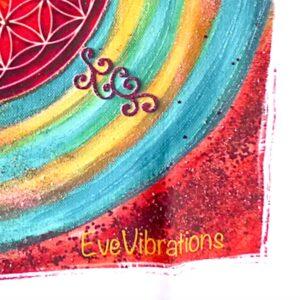 Tenture murale spirale et Fleur de vie