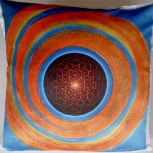 Coussin Fleur de vie 3D solaire