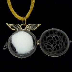 Bijou olfactif couleur bronze Sphère ailée