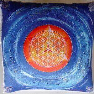Coussin de géométrie sacrée Fleur de Vie
