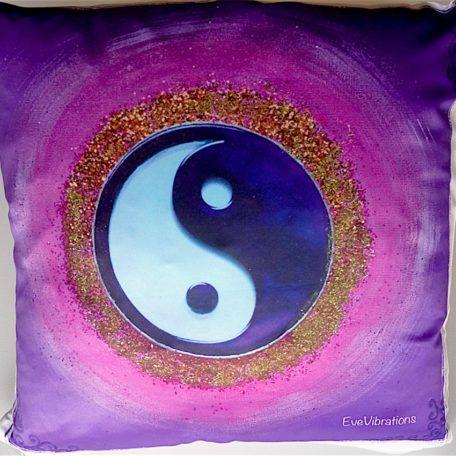 Coussin de géométrie sacrée Tao Yin-Yang