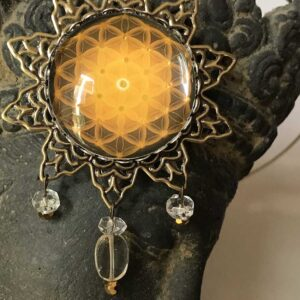 Médaillon Fleur de vie étoile solaire