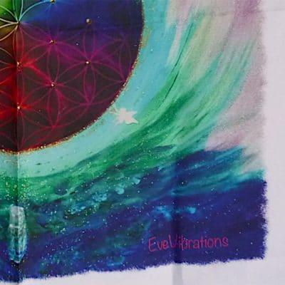 Tenture murale Fleur de vie multicouleurs