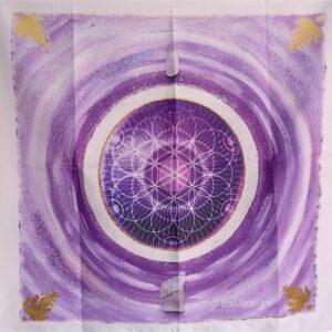 Tenture murale géométrie sacrée Graine de Vie