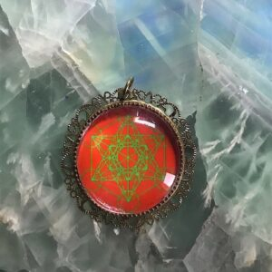 Médaillon énergétique vibratoire Cube de Métatron Ancrage Coeur nature