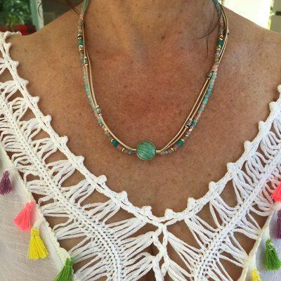 Bracelet Collier Océan de douceur en Amazonite