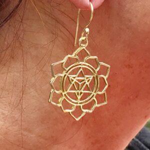 boucles d'oreilles Merkaba et Lotus