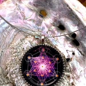Médaillon énergétique vibratoire cube de Métatron réalisation mystique