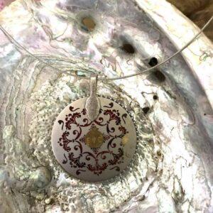 Médaillon énergétique vibratoire cube de Métatron indigo