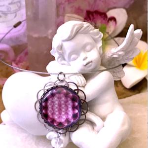 Médaillon énergétique vibratoire fleur de vie chakra coeur