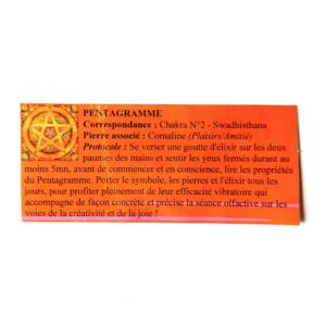pendentif d'olfactothérapie chakra 2 swadhisthana et son spray de synergie pentagramme