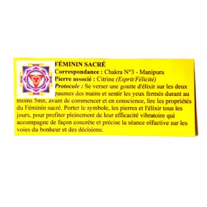 pendentif d'olfactothérapie chakra 3 manipura et son spray de synergie féminin sacré