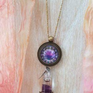 pendentif bijou énergétique élévation et son flacon de synergie vibratoire