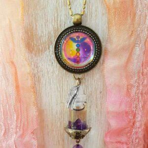 pendentif bijou énergétique union sacrée et son flacon de synergie vibratoire