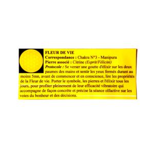 pendentif d'olfactothérapie chakra 3 manipura et son spray de synergie fleur de vie
