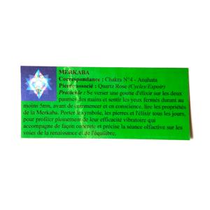 pendentif d'olfactothérapie chakra 4 Anahata avec son spray de synergie merkaba