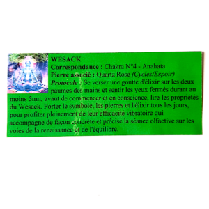 pendentif d'olfactothérapie chakra 4 Anahata avec son spray de synergie wesack