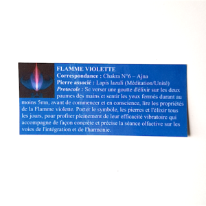 pendentif d'olfactothérapie chakra 6 Ajna avec son spray de synergie flamme violette
