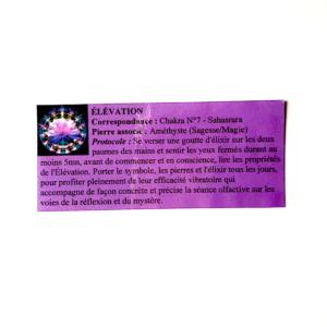 pendentif d'olfactothérapie chakra 7 sahasrara  avec son spray de synergie élévation