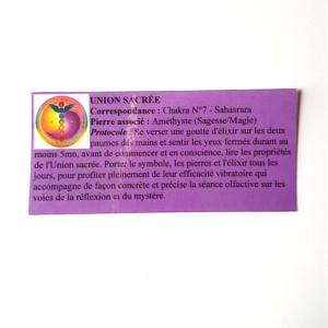 pendentif olfactothérapie chakra 7 sahaswrara avec sa synergie union sacrée