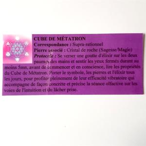 pendentif d'olfactothérapie chakra supra rationnel avec son spray de synergie cube de métatron
