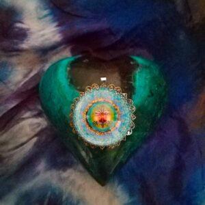 Médaillon énergétique vibratoire arbre de vie rayon bleu