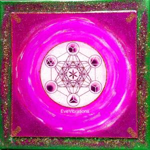 Tableau d'harmonisation Réalisation de l'Âme cube de Métatron