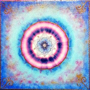 Tableau d'harmonisation «Communication céleste» pentagramme et solide de Platon