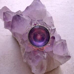 médaillon énergétique vibratoire flamme violette