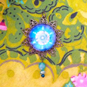 médaillon énergétique vibratoire merkaba fleur de vie union cosmique
