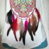 Tee shirt plumes femme sans manches taille unique bas