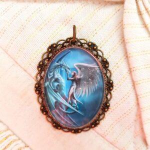 médaillon énergétique vibratoire ange dragon tolérance