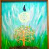 tableau harmonisation aum arbre de vie améthyste