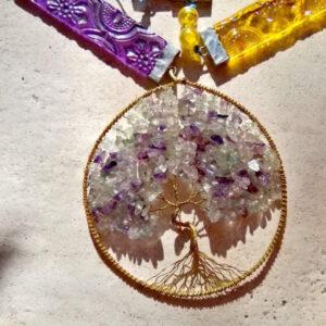 pendule arbre de vie fluorine