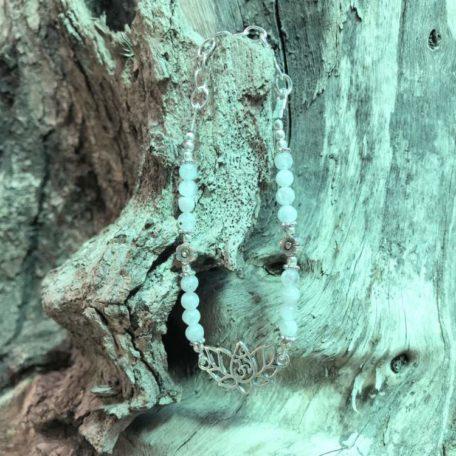 Bracelet Aum lotus pierre de lune