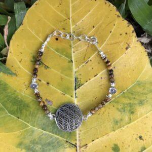 Bracelet fleur de vie œil de tigre
