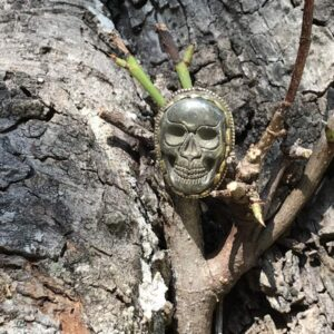 Bague crâne pyrite tibet