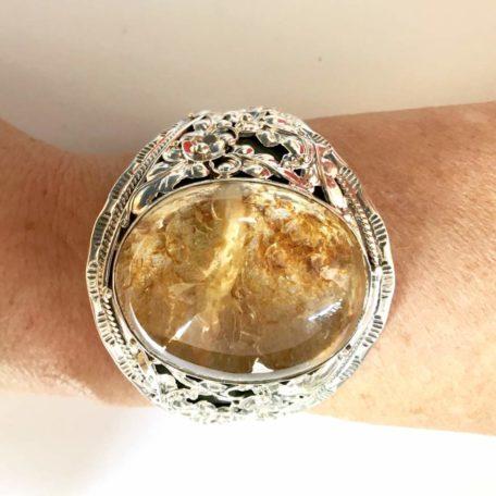Bracelet en argent et lodolite