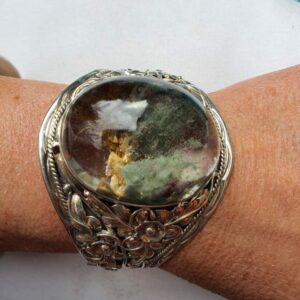 bracelet argent pierre lodolite