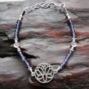 Bracelet lotus améthyste