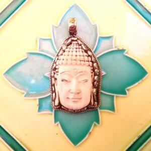 Pendentif Buddha corne Tibet