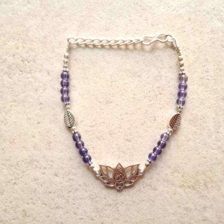 bracelet lotus Aum améthyste