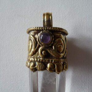 pointe tibet cristal améthyste