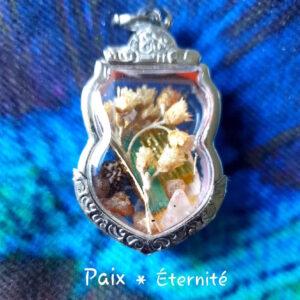 Amulette talisman paix éternité