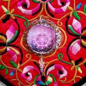 Médaillon fleur de vie divine