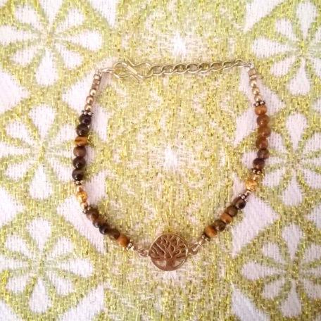 bracelet-arbre-de-vie-doré-oeil-de-tigre